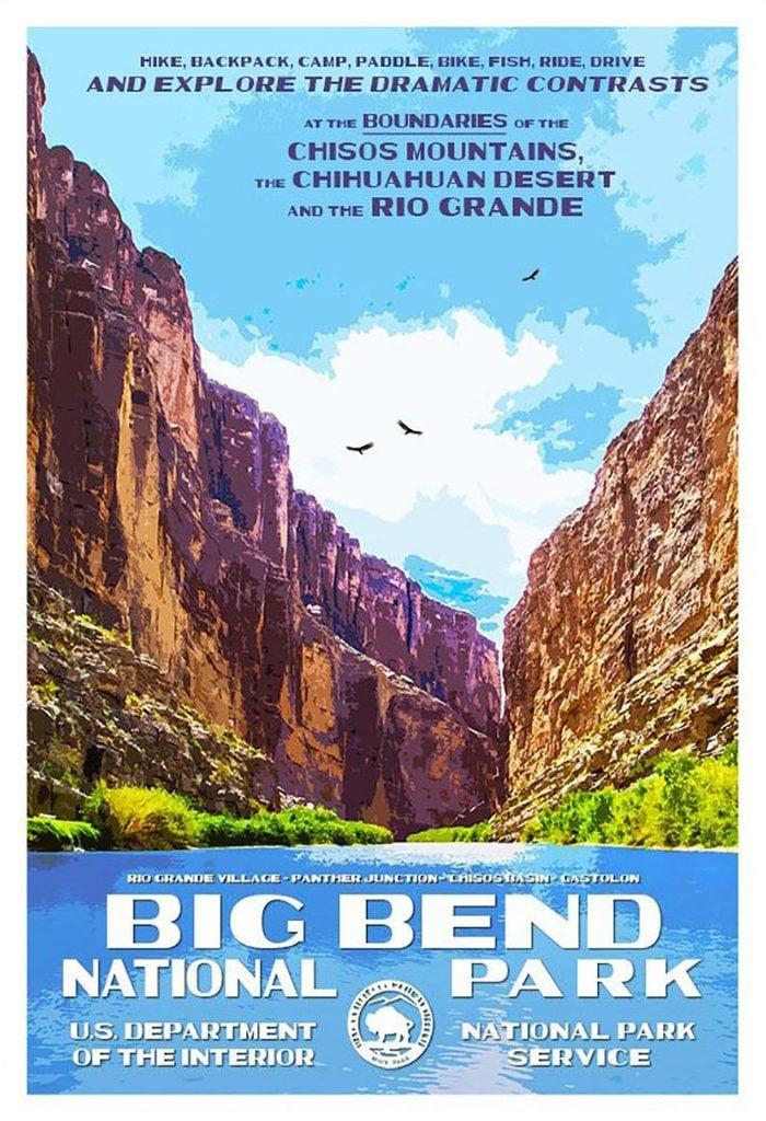 big bend poster