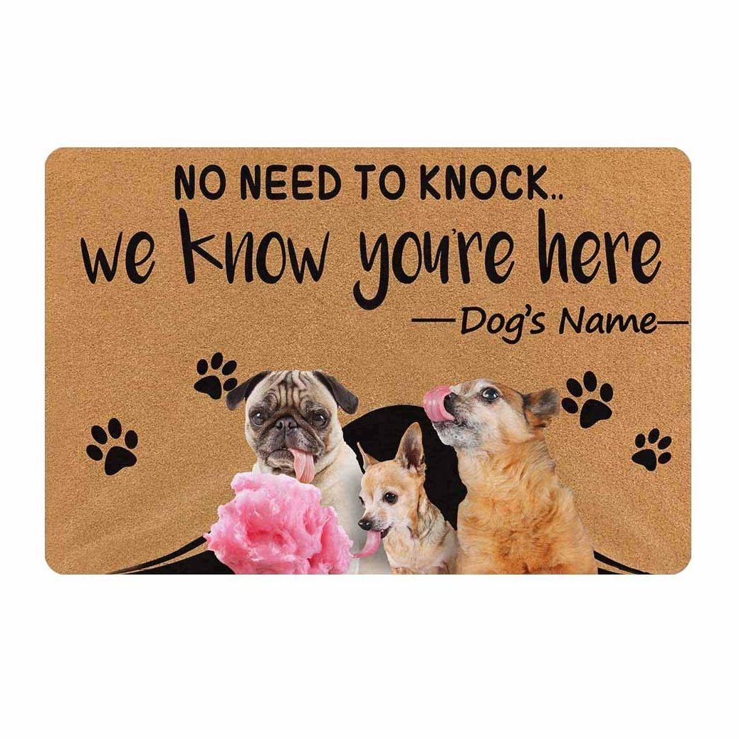 dog welcome mat