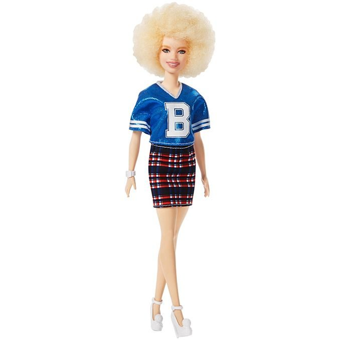 white barbie natural textured afro hair fashionista