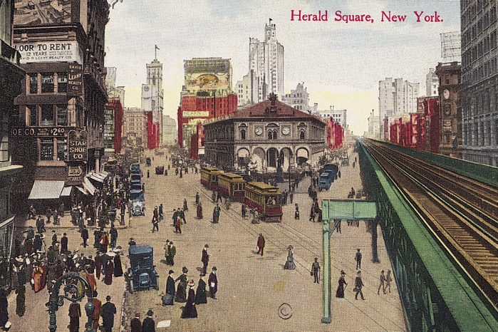 herald square new york vintage post card