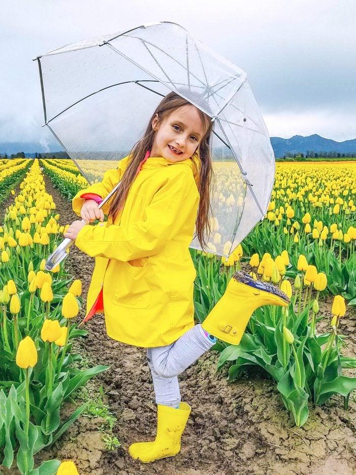 spring rain jacket girl