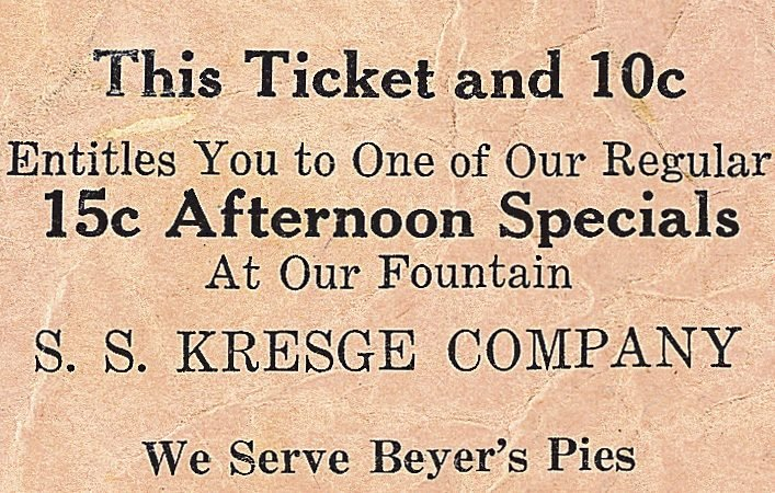 vintage ticket what a date used to cost