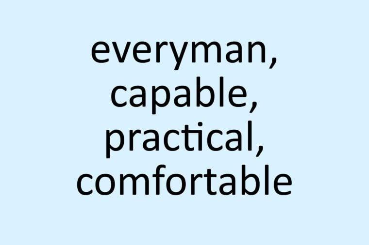 calibri font everyman capable practical comfortable