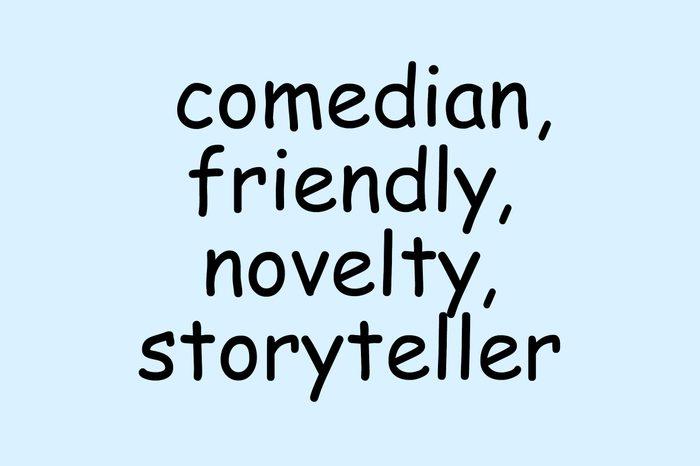 comic sans font comedian friendly novelty storeyteller