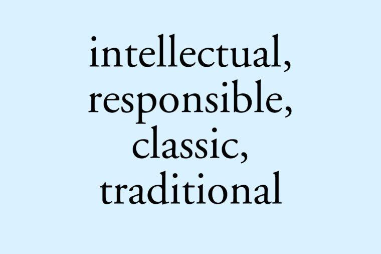 garamond font intellectual responsible classic traditional