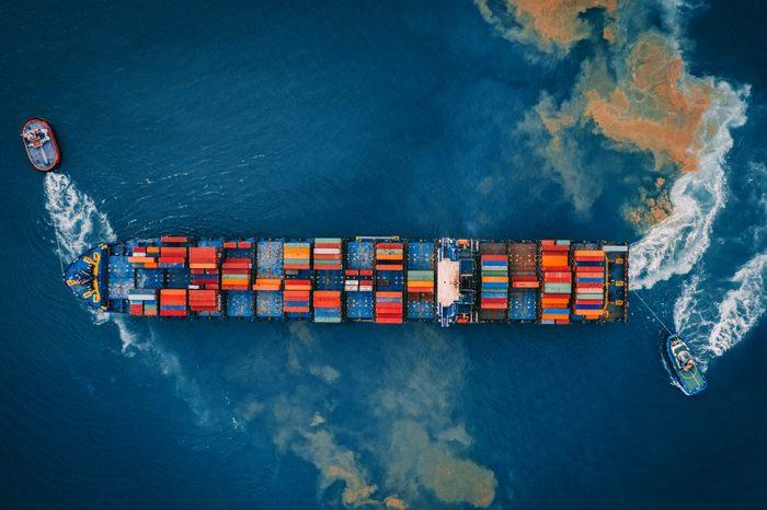 cargo ship ocean warming