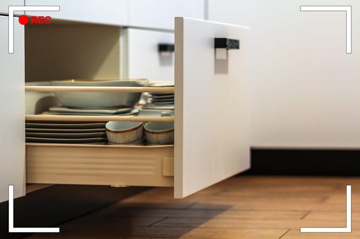 open kitchen drawer