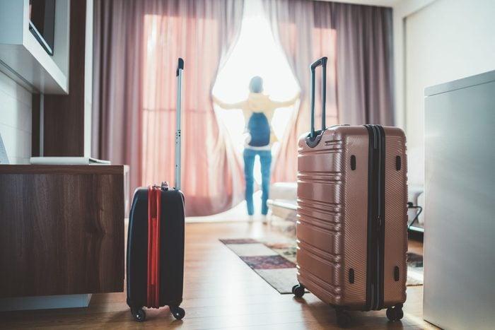 hotel luggage room dirty
