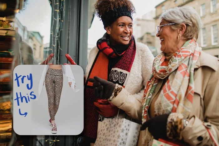Window Shopping women with inset of pants