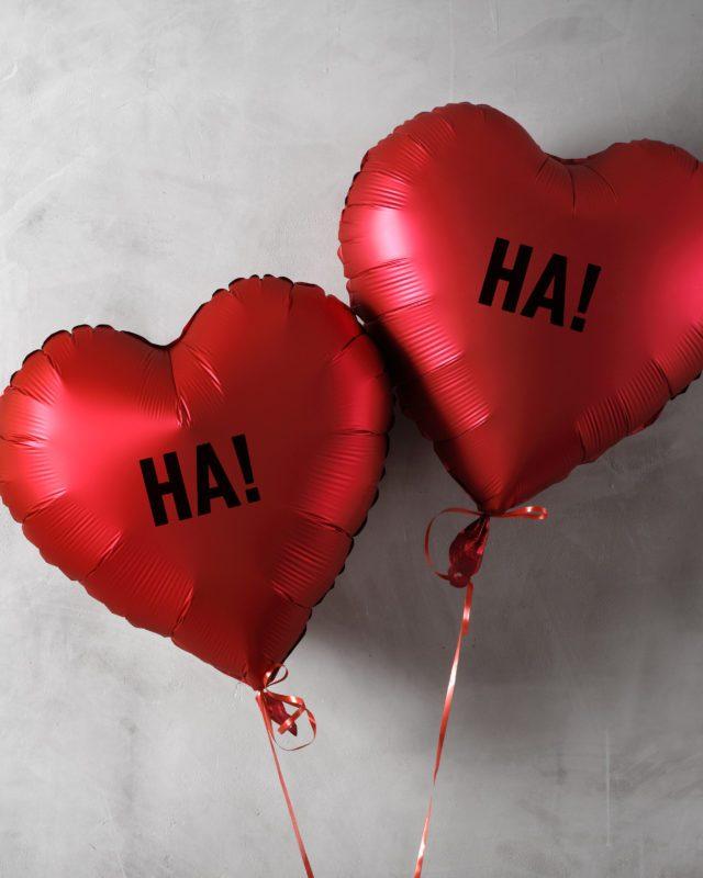 heart ha ha balloons