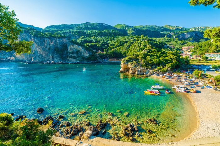 Paleokastritsa, Corfu island, Greece
