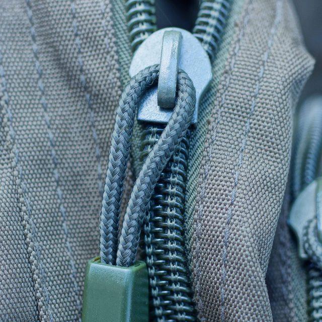 close up of zipper