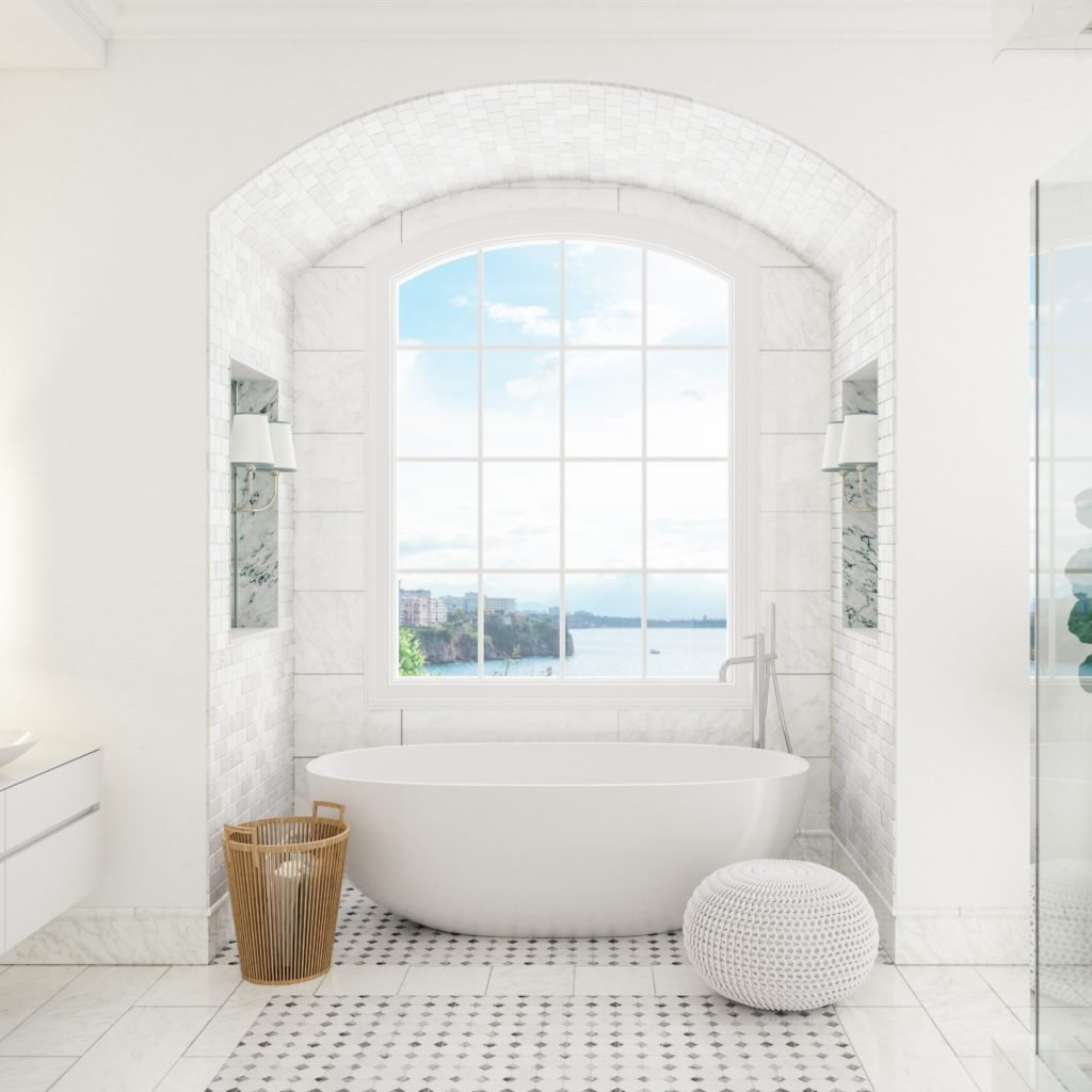 Interior of a contemporary bathroom