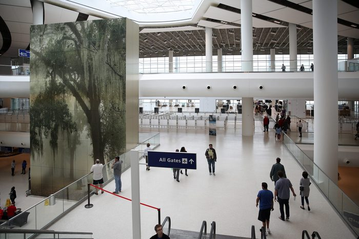 A general view of the interior of the new airport at Louis Armstrong New Orleans International Airport on October 24, 2019 in Kenner, Louisiana.