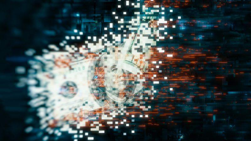 cyber crime digital money concept