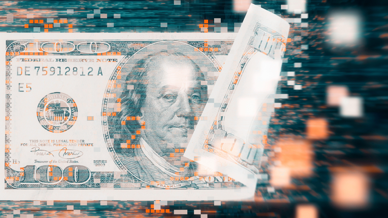 digital money concept.