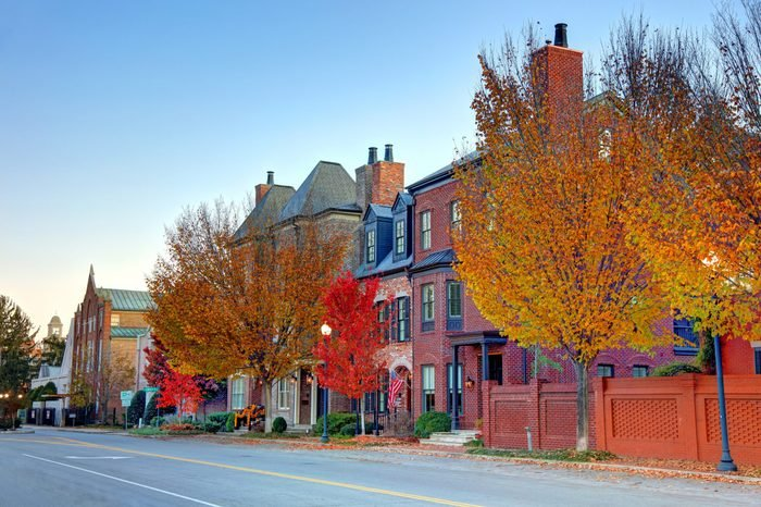 Autumn in Franklin, Tennessee most romantic towns