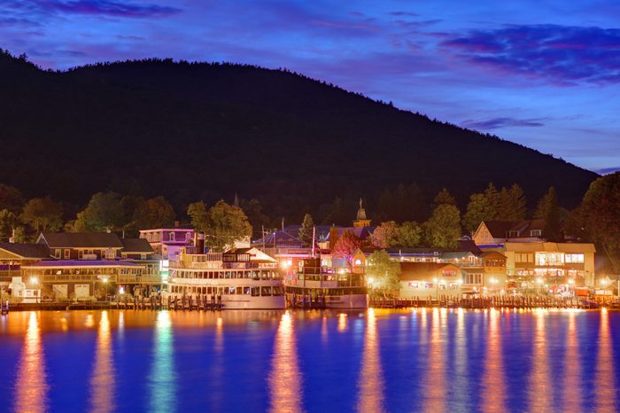 Lake George, New York most romantic towns