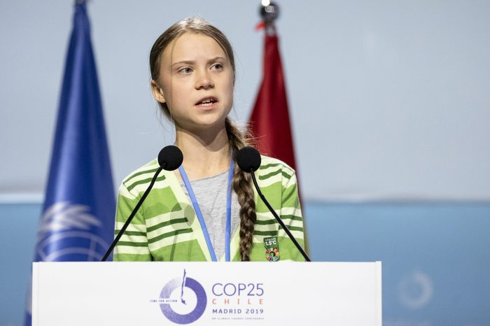 Swedish environment activist Greta Thunberg