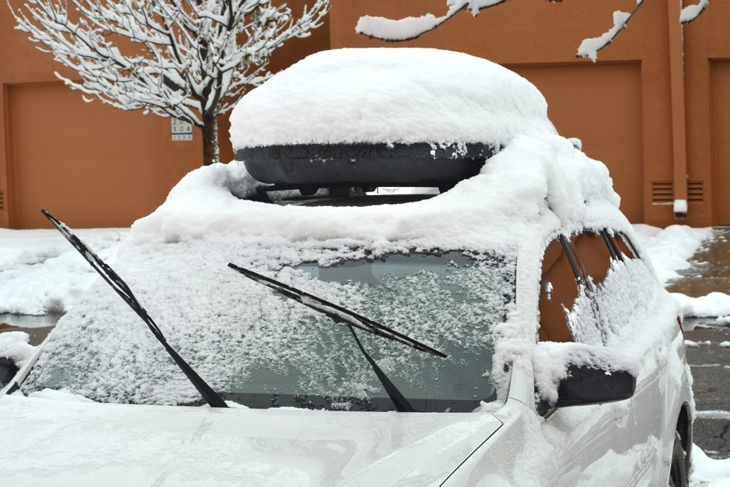 car snow storm windshield wipers up