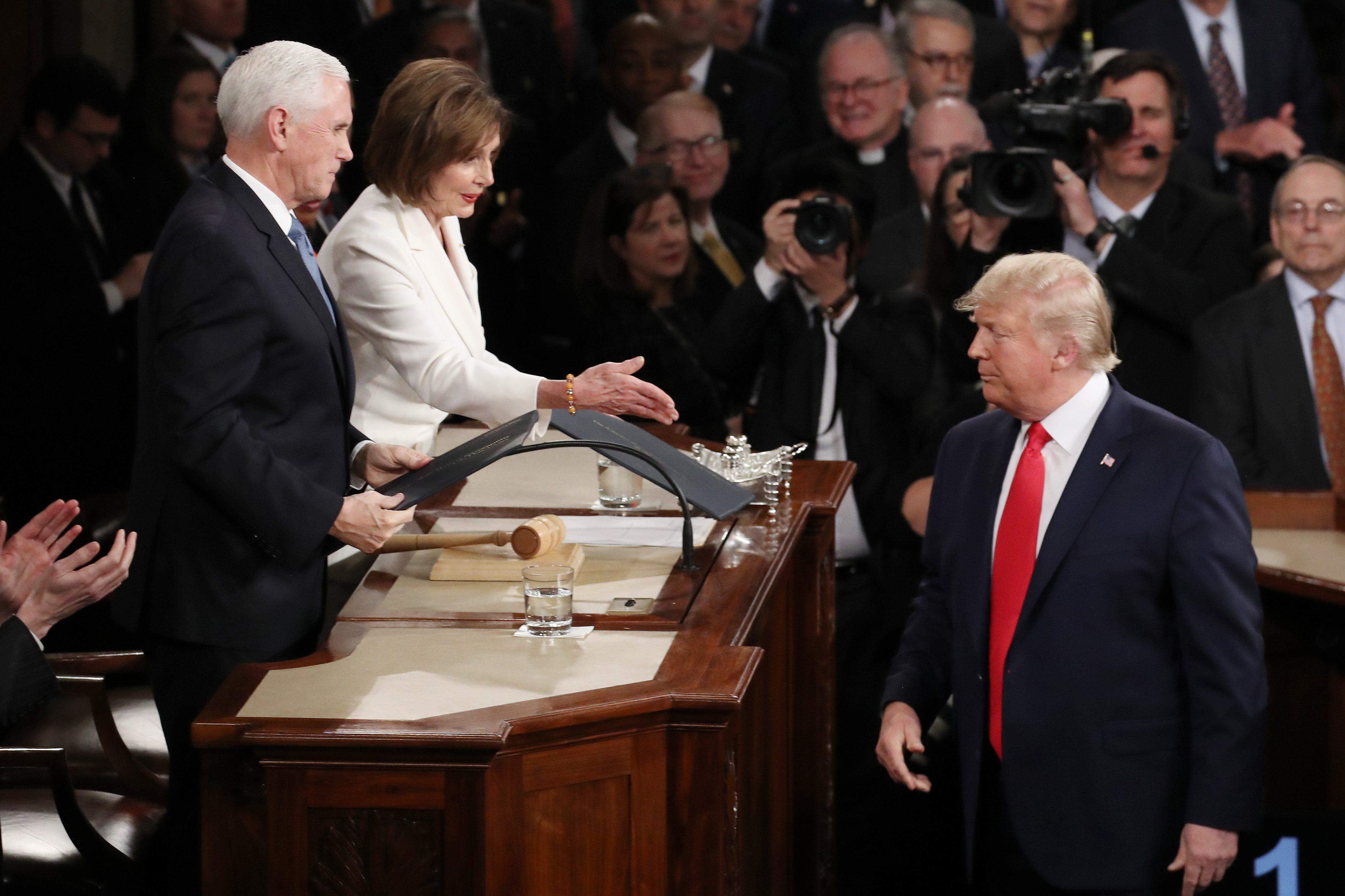 President Trump and Nancy Pelosi