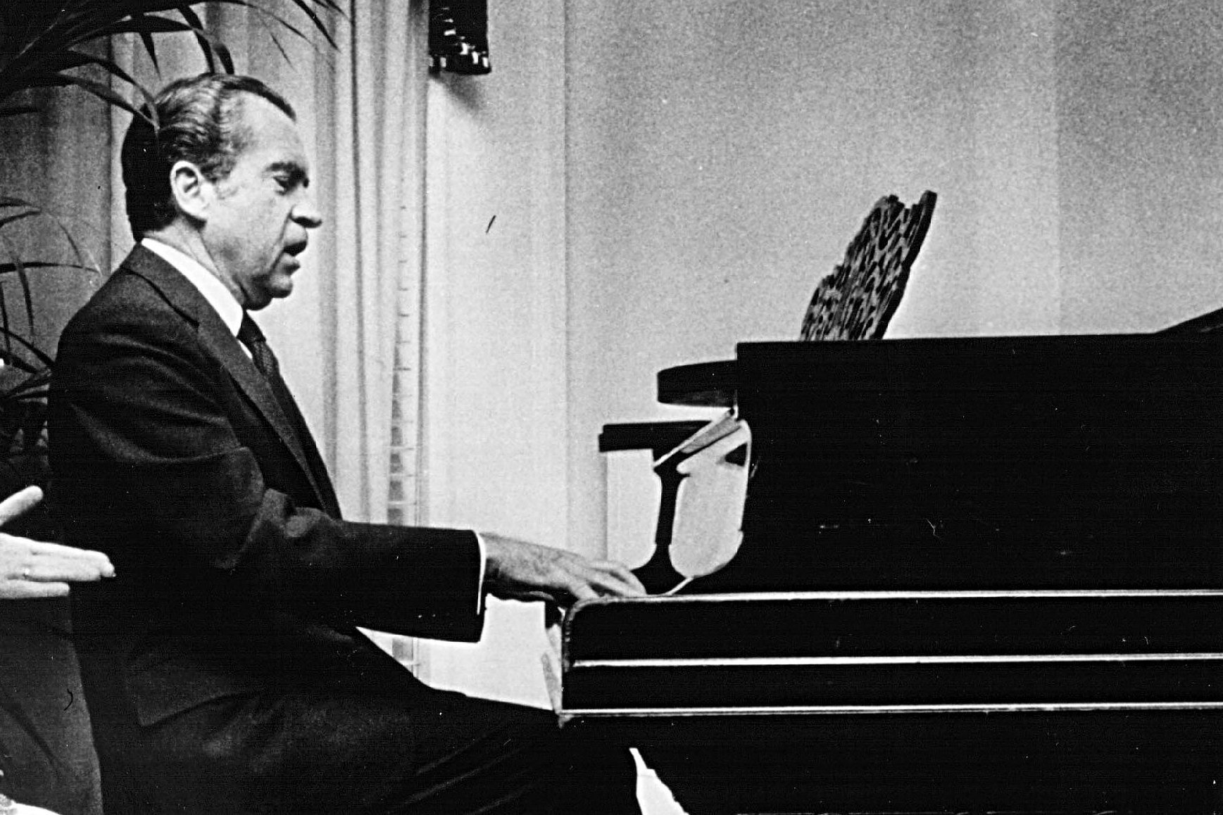 nixon playing piano