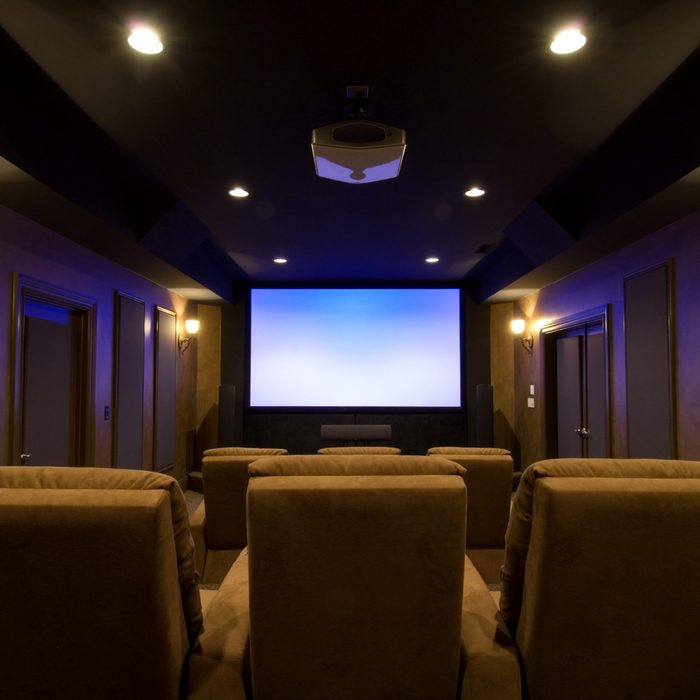 Incredible Home Theater from sitting vantage point.