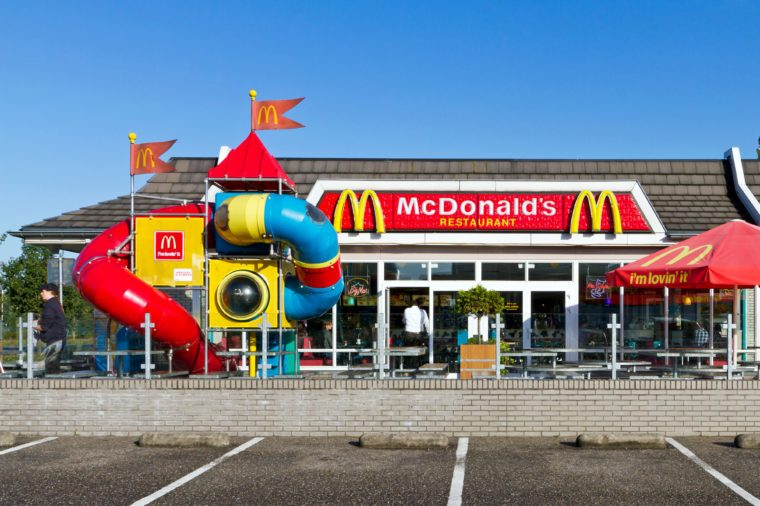 mcdonalds exterior with play area