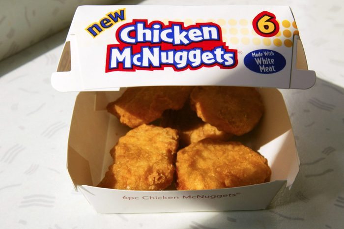 mcdonalds container or 6 chicken mcnuggets nuggets