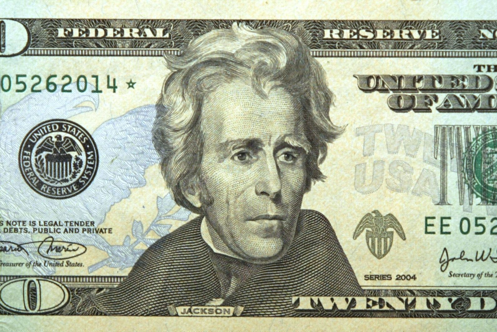 andrew jackson 20 dollar bill
