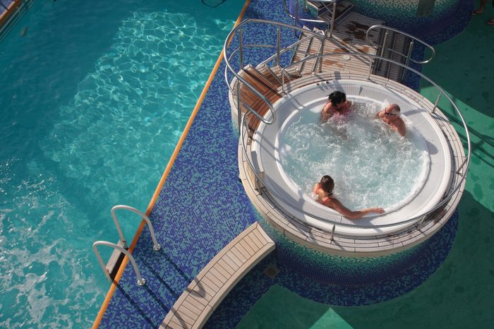 cruise ship swimming pool hot tub
