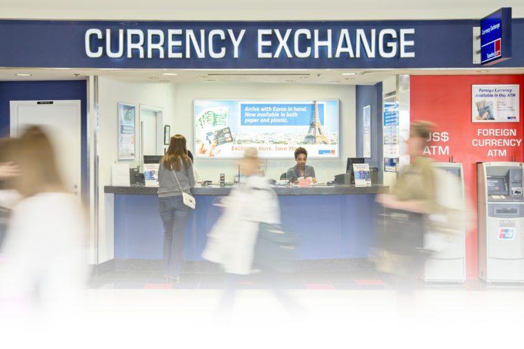 currency exchange desk in atlanta airport