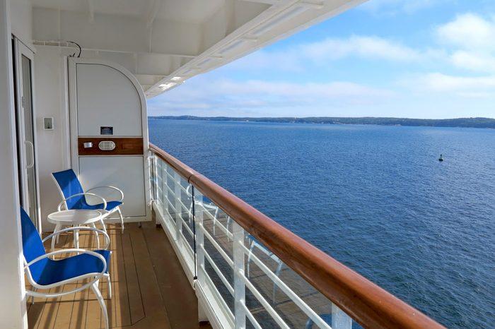 cruise ship balcony
