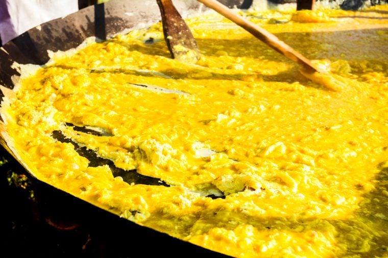 scrambled egg festival bosnia spring