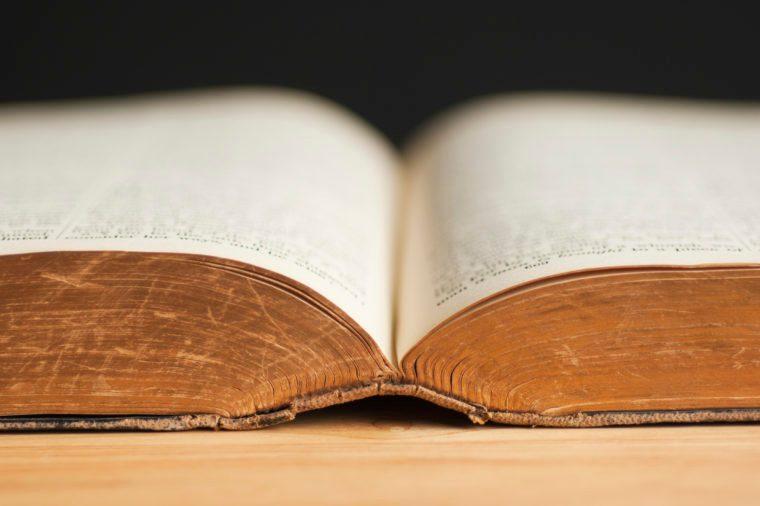 open classic book
