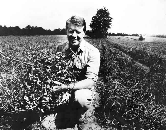 Jimmy Carter on his peanut farm, Plains, Georgia, 1976