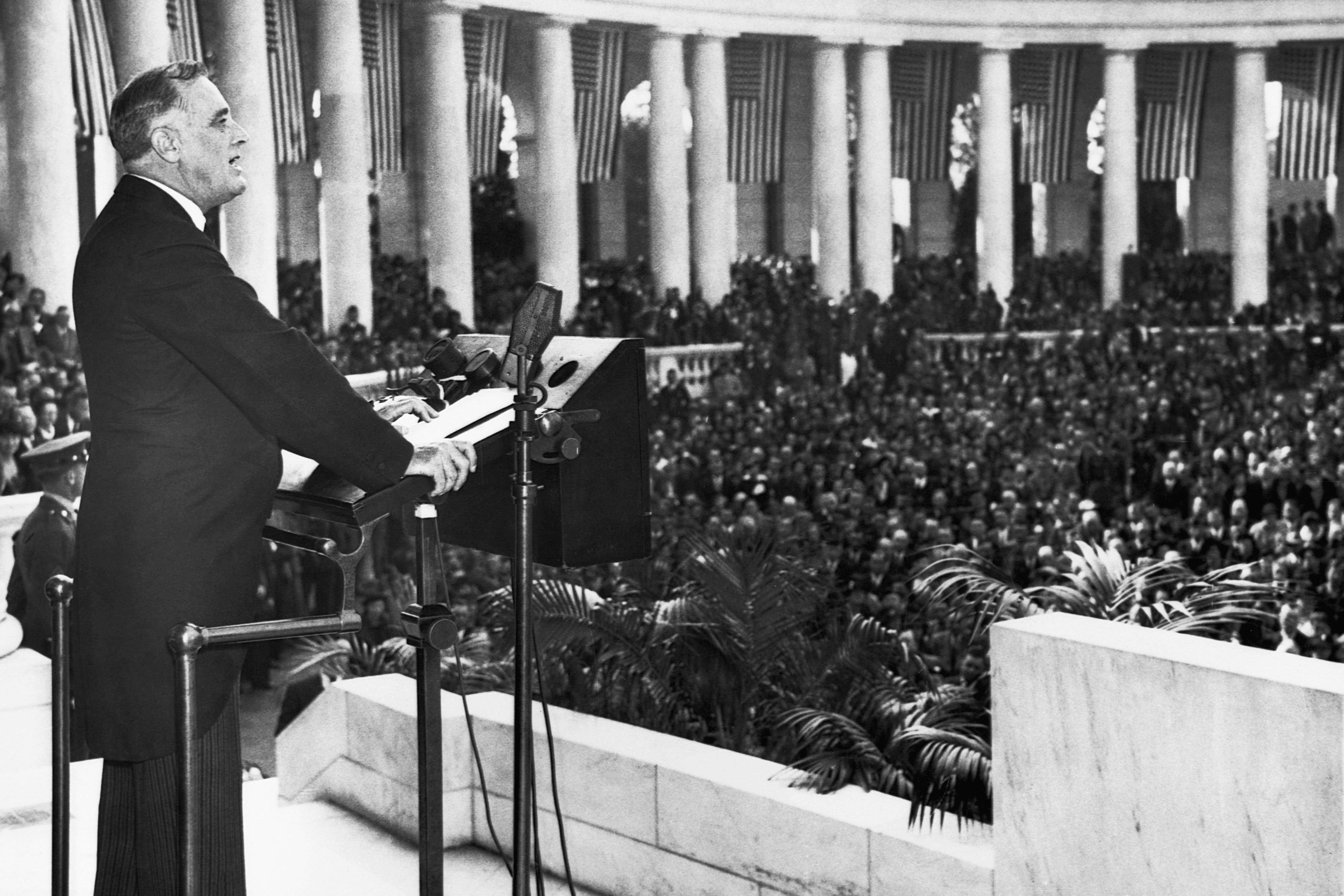 president roosevelt podium