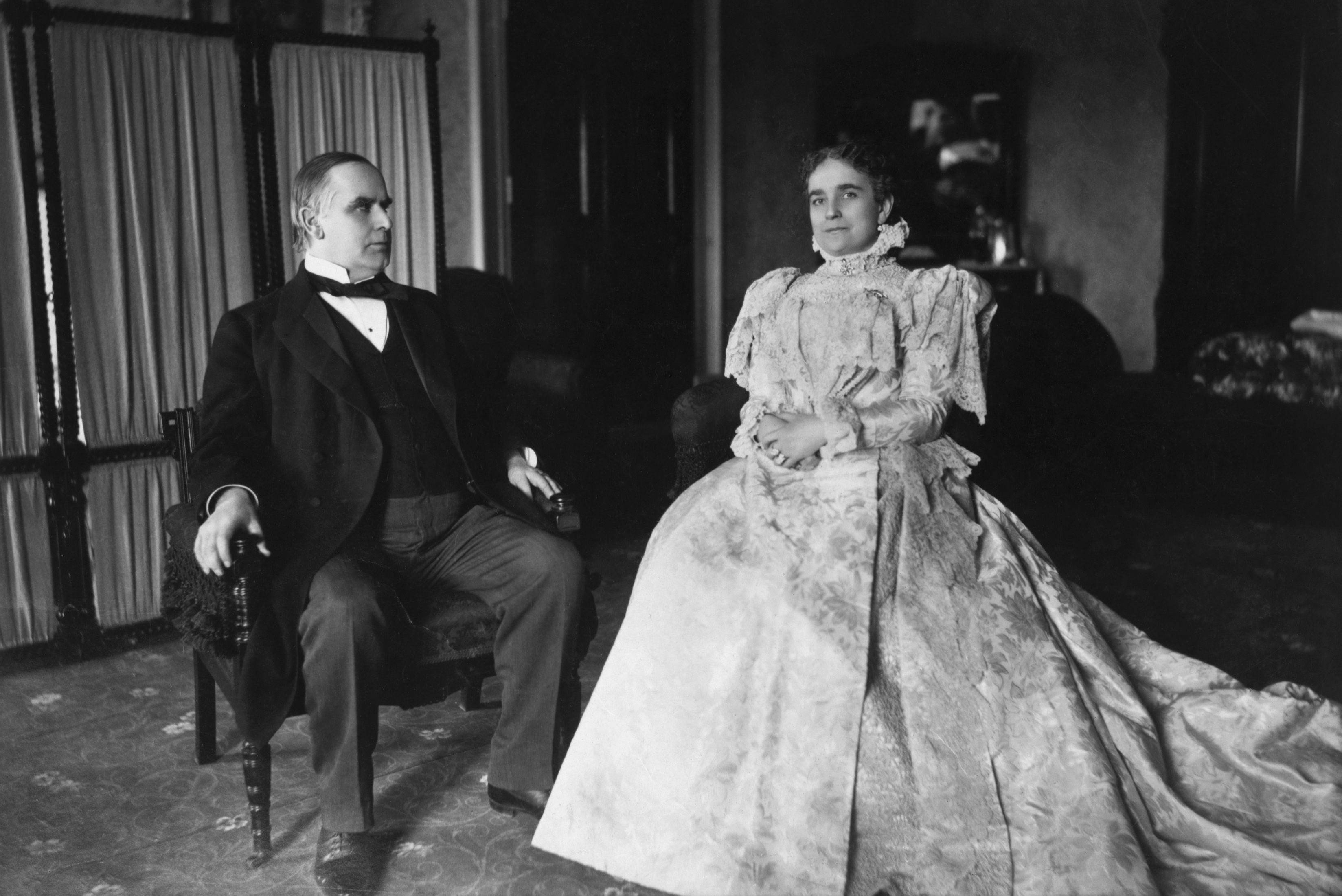 William Mckinley and wife Ida Saxon Mckinley