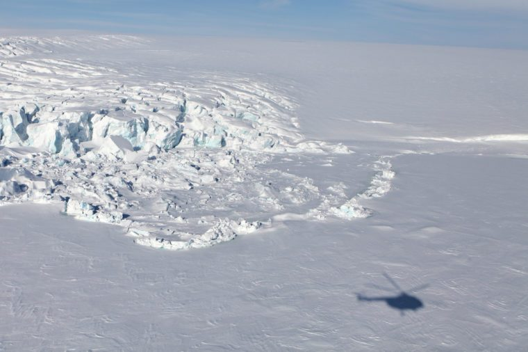 helicopter ride antarctica