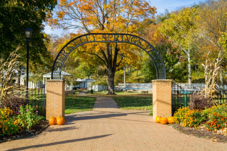 Berleley Springs State Park in West Virginia most romantic towns