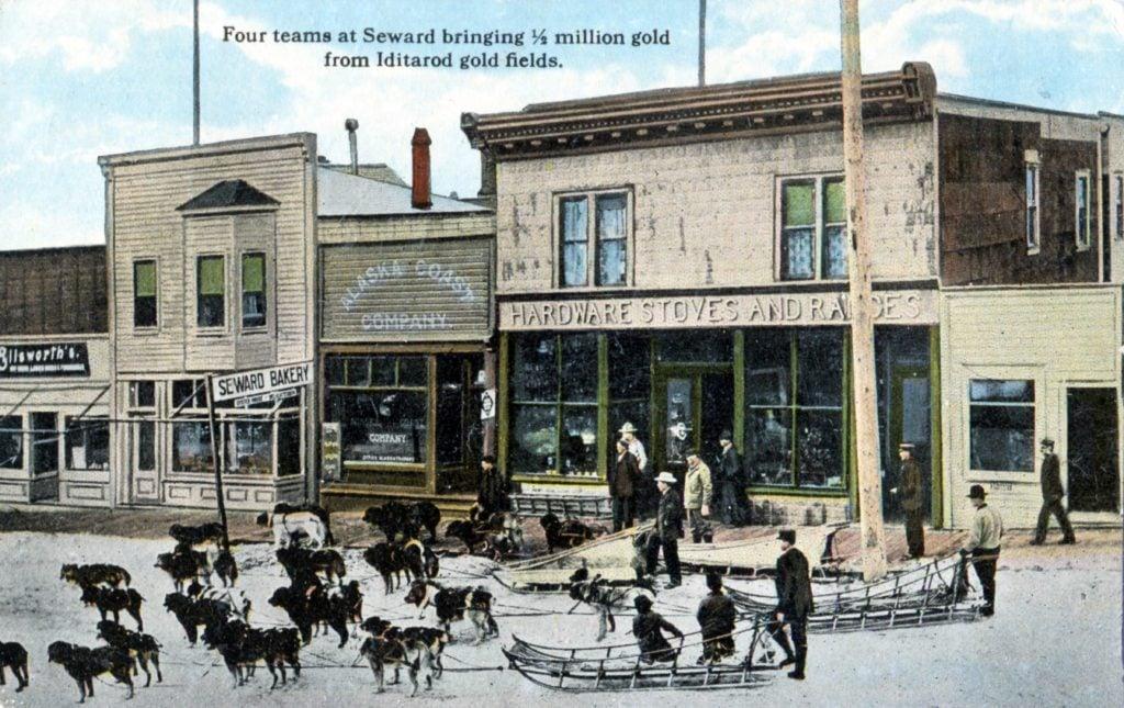 vintage postcard Seward, Alaska