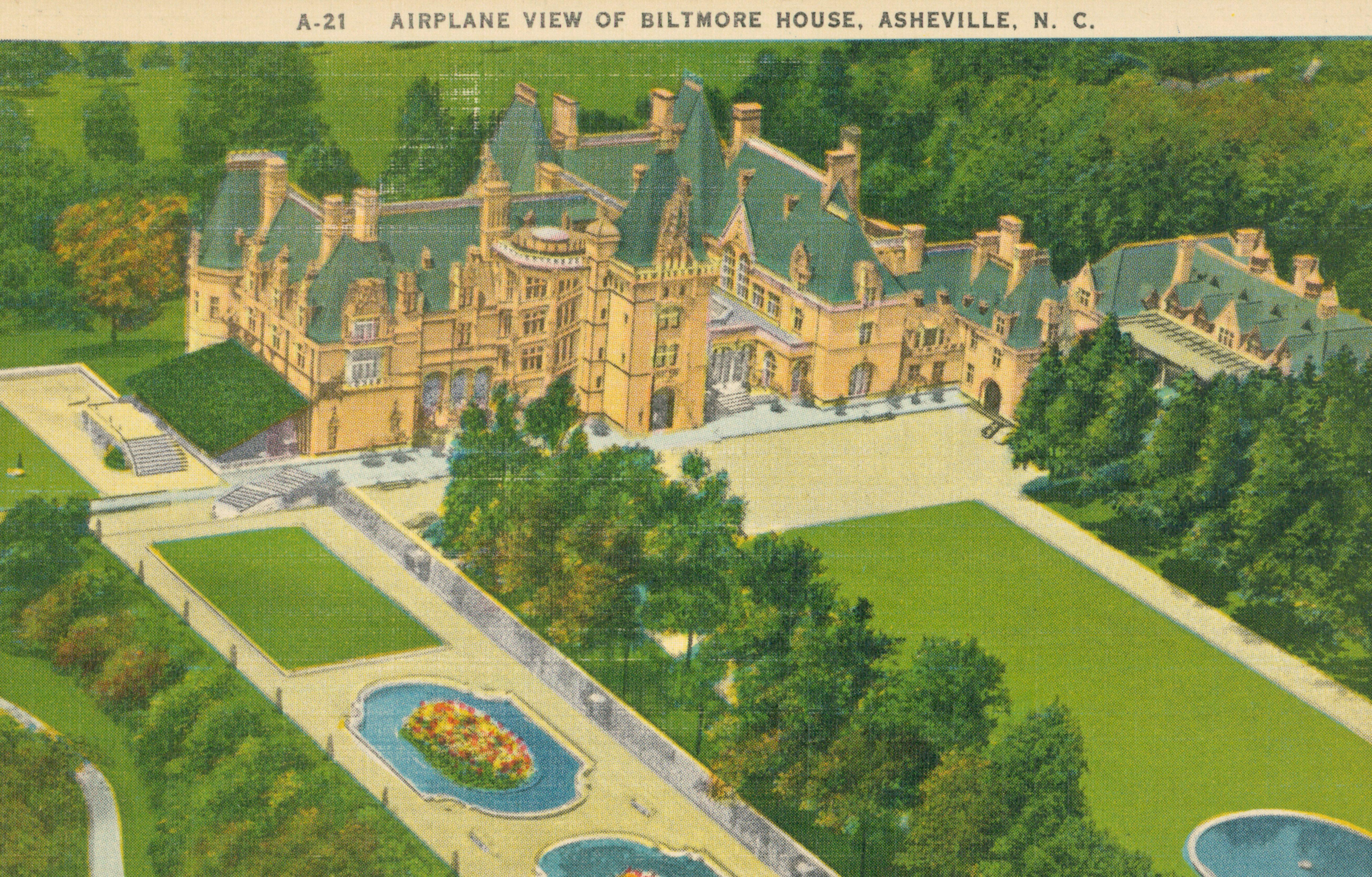 asheville north carolina vintage postcard