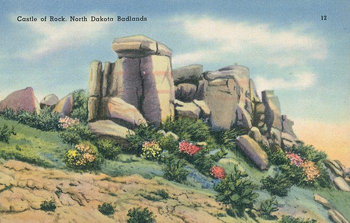 North Dakota Badlands vintage post card