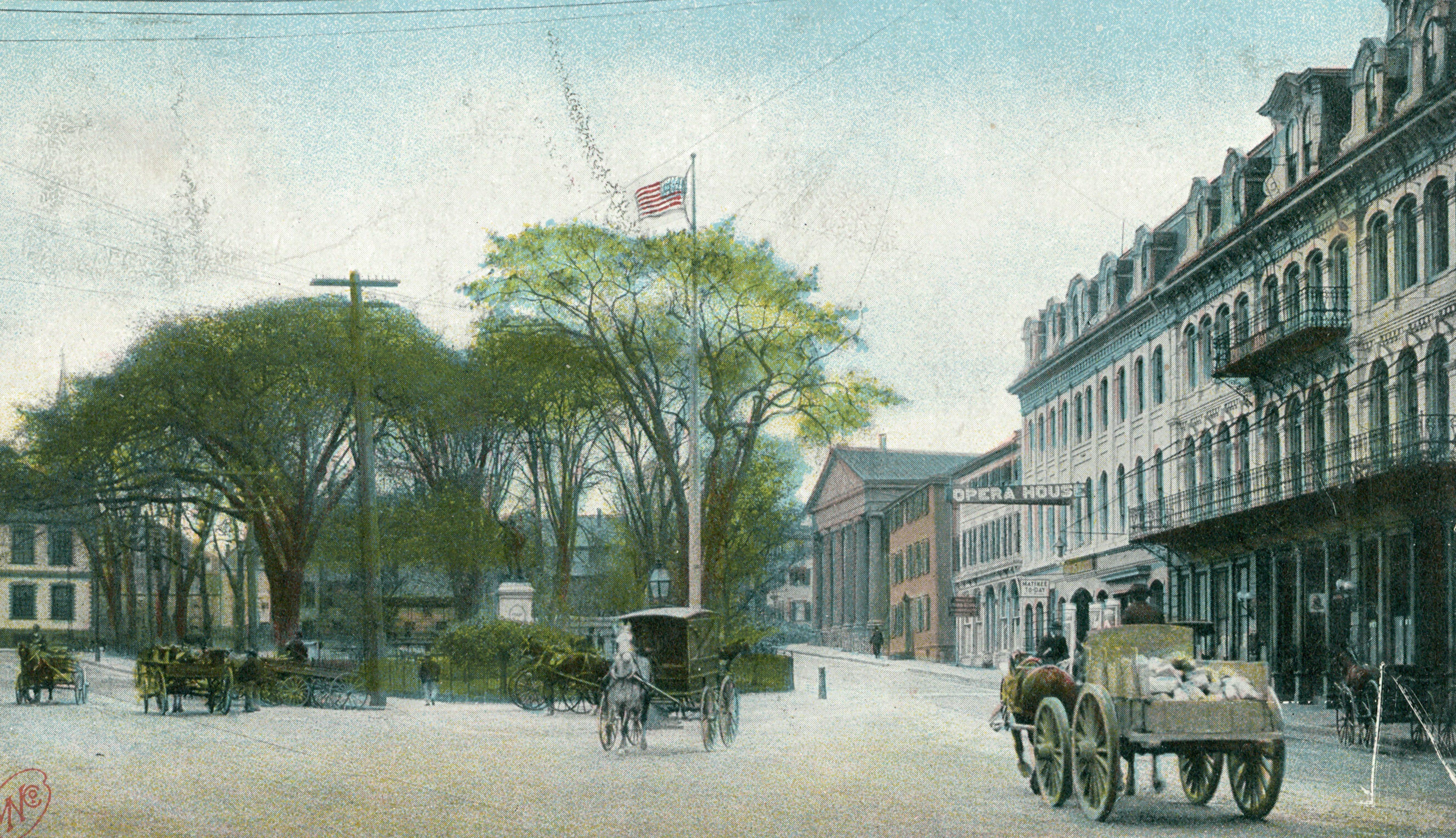 newport rhode island vintage postcard