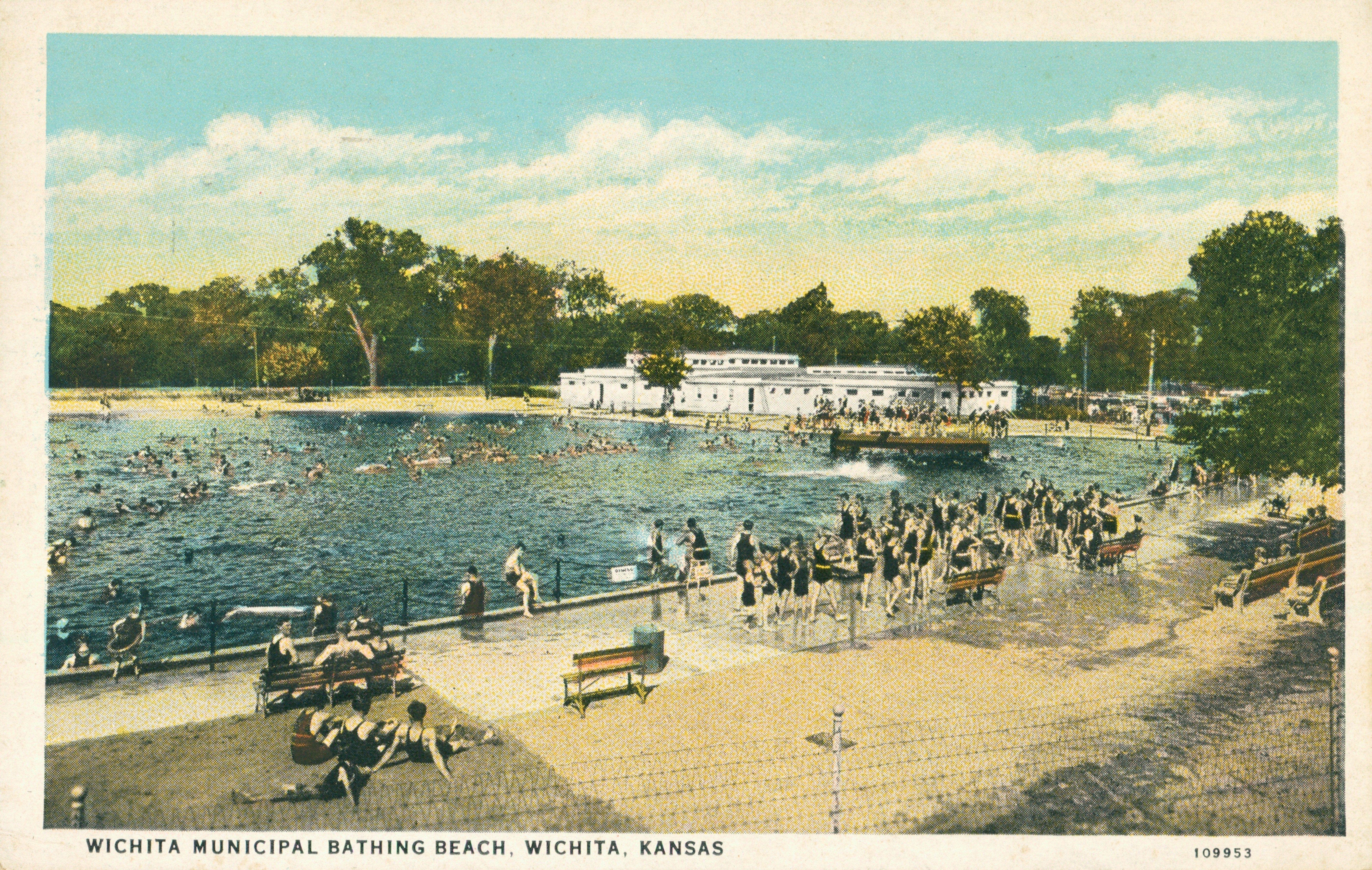 wichita kansas vintage post card