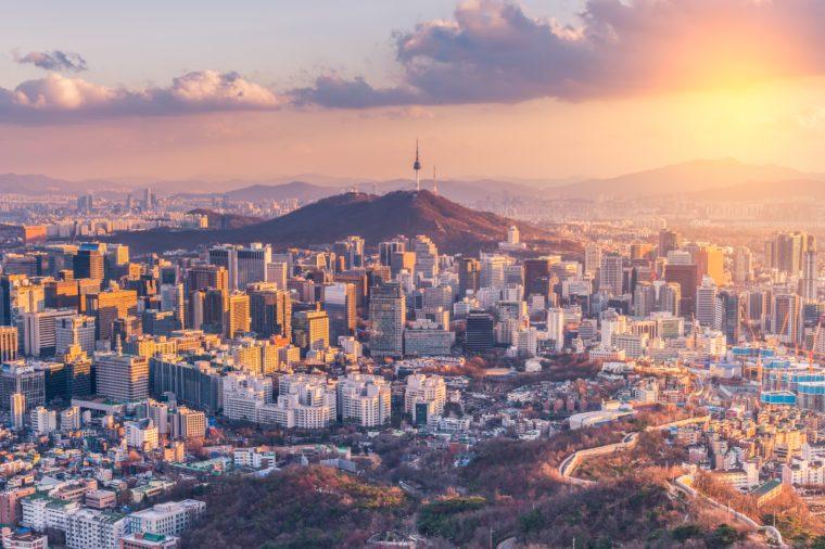 Seoul City Skyline,South Korea