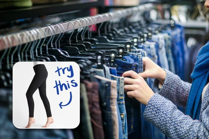 Shopping For Jeans with inset of jeans to buy