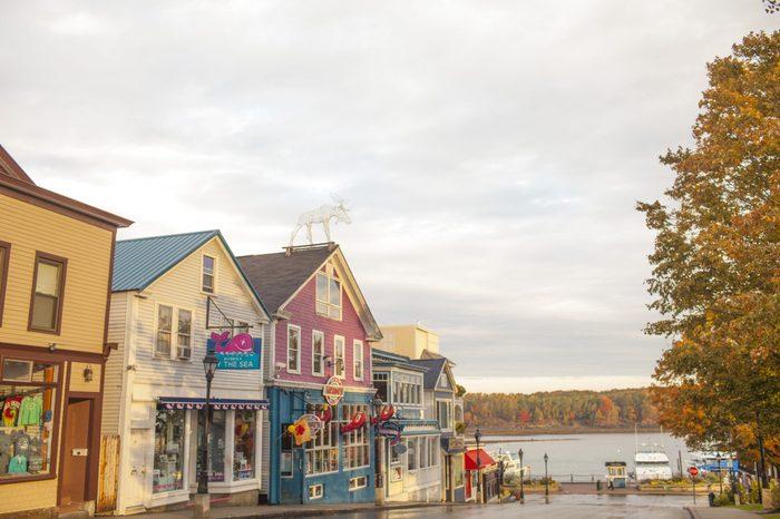 Bar Harbor Maine town square