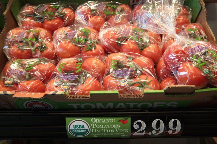 organic tomatoes aldi