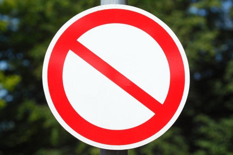 no symbol sign